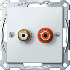 Механизм аудио розетки Merten. Цвет Активный белый, MTN4350-0325