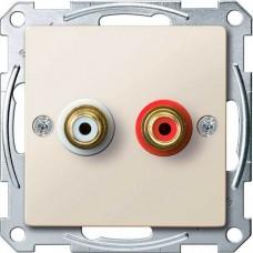 Механизм аудио розетки Merten. Цвет Бежевый, MTN4350-0344