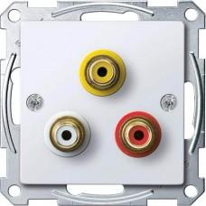 Механизм аудио/видео розетки Merten. Цвет Активный белый, MTN4351-0325