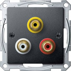 Механизм аудио/видео розетки Merten. Цвет Антрацит, MTN4351-0414