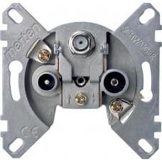 Механизм тройной концевой антенной розетки TV + FM + SAT Merten, MTN466097
