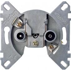 Механизм двойной концевой антенной розетки TVR + SAT Merten, MTN466099