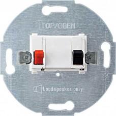 Механизм розетки для громкоговорителей Merten. Цвет Полярно-белый, MTN466919