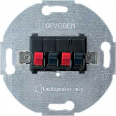 Механизм стерео розетки для громкоговорителей Merten. Цвет Антрацит, MTN467014