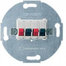 Механизм стерео розетки для громкоговорителей Merten. Цвет Полярно-белый, MTN467019