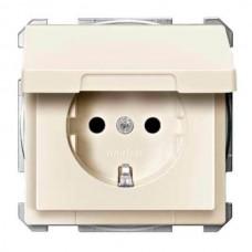 MTN2310-4044 Механизм розетки с крышкой, защитными шторками и заземлением Merten Shuko, 2 полюса, 16А. Цвет Бежевый