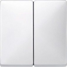 Двойная клавиша выключателя Merten System Design. Цвет Полярно-белый MTN412519
