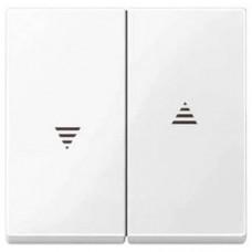 Двойная клавиша для клавишного и кнопочного выключателя рольставней Merten System M. Цвет Полярно-белый MTN432419
