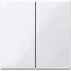 Двойная клавиша Merten System M. Цвет Полярно-белый MTN432519