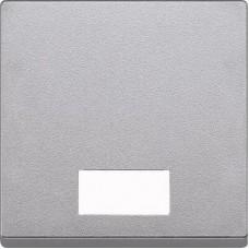 MTN433860 Клавиша с окошком для световой индикации Merten System M. Цвет Алюминий