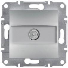 EPH3200161 TV розетка концевая 1 dB Asfora. Цвет Алюминий