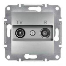 Розетка TV-R проходная 8 dB Asfora. Цвет Алюминий EPH3300361