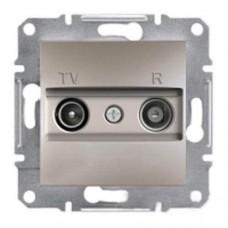 Розетка TV-R проходная 8 dB Asfora. Цвет Бронза EPH3300369