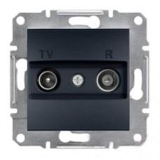 Розетка TV-R проходная 8 dB Asfora. Цвет Антрацит EPH3300371