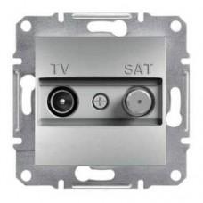 Розетка TV-SAT индивидуальная 1 dB Asfora. Цвет Алюминий EPH3400461