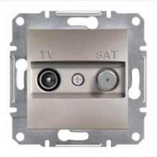 Розетка TV-SAT проходная 4 dB Asfora. Цвет Бронза EPH3400269