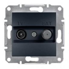 Розетка TV-SAT индивидуальная 1 dB Asfora. Цвет Антрацит EPH3400471