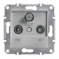 Розетка TV-R-SAT проходная 4 dB Asfora. Цвет Алюминий EPH3500261