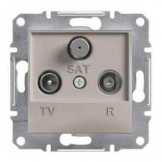 Розетка TV-R-SAT проходная 4 dB Asfora. Цвет Бронза EPH3500269
