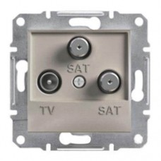 Розетка TV-SAT-SAT концевая 1 dB Asfora. Цвет Бронза EPH3600169