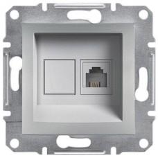 EPH4100161 Розетка телефонная RJ11 Asfora. Цвет Алюминий