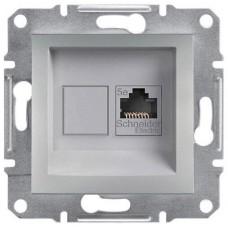 Розетка компьютерная Кат5e UTP Asfora. Цвет Алюминий EPH4300161