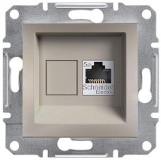 EPH4300169 Розетка компьютерная Кат5e UTP Asfora. Цвет Бронза