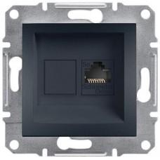 EPH4300171 Розетка компьютерная Кат5e UTP Asfora. Цвет Антрацит