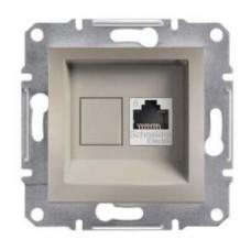 Розетка компьютерная Кат6e UTP Asfora. Цвет Бронза EPH4700169