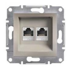 Розетка компьютерная Кат5e UTP Asfora. Цвет Бронза EPH4800169