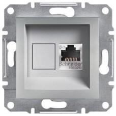 Розетка компьютерная экранированная Кат5e STP Asfora. Цвет Алюминий EPH5000161