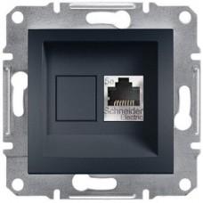 Розетка компьютерная экранированная Кат5e STP Asfora. Цвет Антрацит EPH5000171