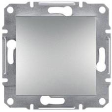 EPH0700161 Одноклавишный кнопочный выключатель серии Asfora 10А. Цвет Алюминий