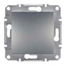 EPH0100162 Одноклавишный выключатель серии Asfora IP20. Цвет Сталь