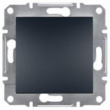 EPH0100171 Одноклавишный выключатель серии Asfora IP20. Цвет Антрацит