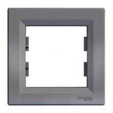 EPH5800162 Рамка 1-постовая горизонтальная Asfora. Цвет Сталь