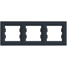 EPH5800371 Рамка 3-постовая горизонтальная Asfora. Цвет Антрацит