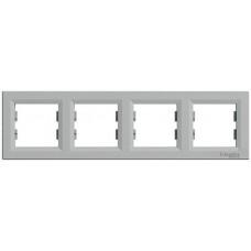 EPH5800461 Рамка 4-постовая горизонтальная Asfora. Цвет Алюминий