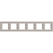 EPH5800669 Рамка 6-постовая горизонтальная Asfora. Цвет Бронза
