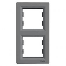 EPH5810262 Рамка 2-постовая вертикальная Asfora. Цвет Сталь