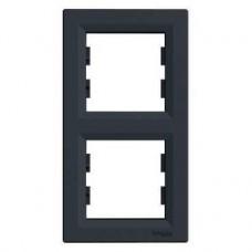 EPH5810271 Рамка 2-постовая вертикальная Asfora. Цвет Антрацит