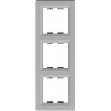 EPH5810361 Рамка 3-постовая вертикальная Asfora. Цвет Алюминий