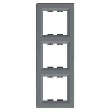 EPH5810362 Рамка 3-постовая вертикальная Asfora. Цвет Сталь