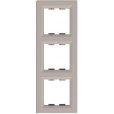 EPH5810369 Рамка 3-постовая вертикальная Asfora. Цвет Бронза