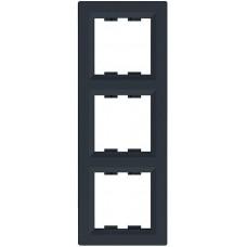 EPH5810371 Рамка 3-постовая вертикальная Asfora. Цвет Антрацит