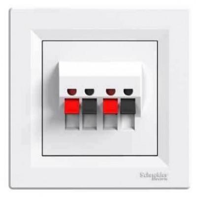 Аудіорозетка Asfora Schneider Electric колір білий (EPH5700121)