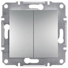 Двухклавишный переключатель серии Asfora IP20. Цвет Алюминий EPH0600161