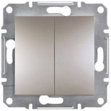 EPH0300169 Двухклавишный выключатель серии Asfora IP20. Цвет Бронза