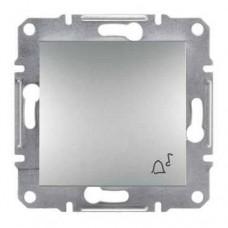 EPH0800161 Кнопочный выключатель с символом звонок Asfora. Цвет Алюминий