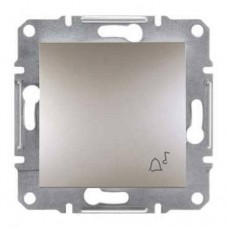 EPH0800169 Кнопочный выключатель с символом звонок Asfora. Цвет Бронза